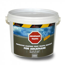 Top Coat waterproofing paint to apply on top of Arcathane in order to render it foot traffic resistant