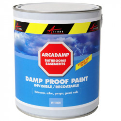ARCADAMP - Damp proof paint eliminates damp in bathrooms and basements, Cures and Prevents dampness