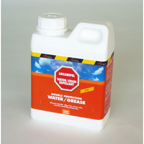 ARCAREPEL - Water and oil repellent for floors, kitchens, bathrooms, garages, outdoor terraces and tiling, paving stones, all p