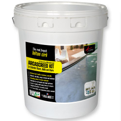 ARCASCREED KIT for exterior floors walls and stairs, decorative microscreed, waxed concrete